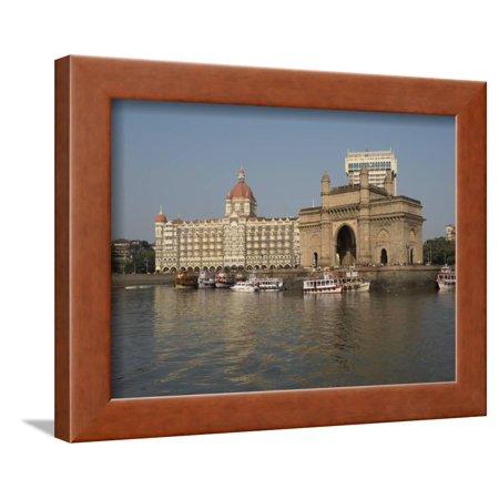 Gateway of India with Taj Mahal Palace and Tower Hotel in the background, Colaba, Mumbai, Mahara... Framed Print Wall Art