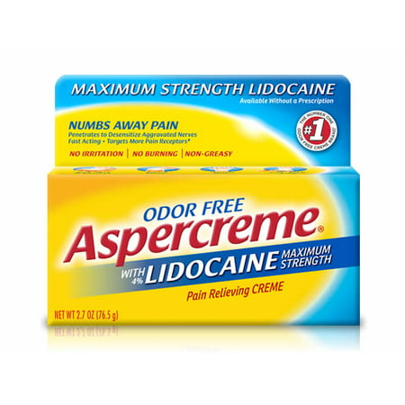 Aspercreme Pain Relieving Creme with 4% Lidocaine, 1.75 oz