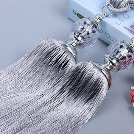 Fancyleo New Curtain Tiebacks 2PC Crystal Beaded Tassels Tieback Curtain Cord Home Textiles Window Treatments Home Decoration Accessories ()