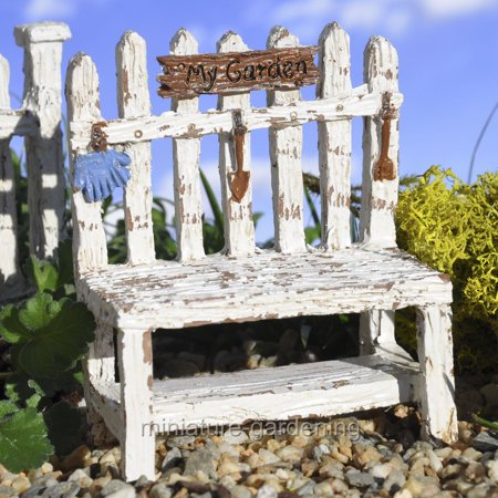 Brilliant Miniature Picket Fence Potting Bench For Miniature Garden Ncnpc Chair Design For Home Ncnpcorg