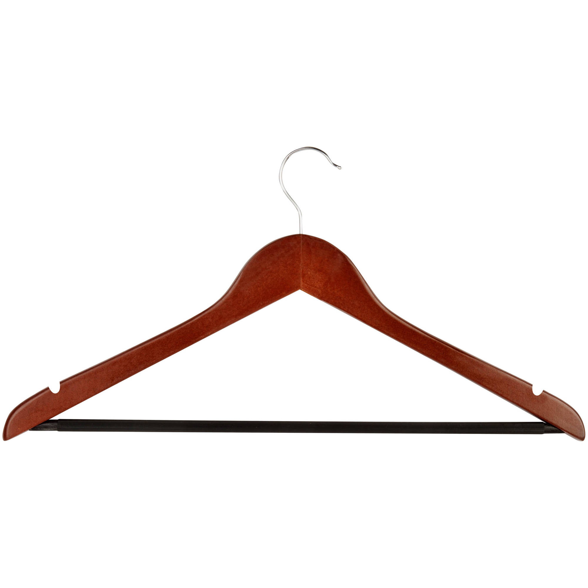 Honey Can Do Wooden Suit Hangers, Cherry, 24pk