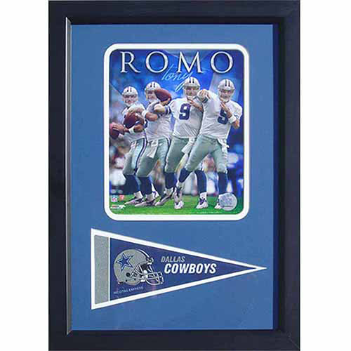 NFL Tony Romo Dallas Cowboys 12x18 Pennant Frame