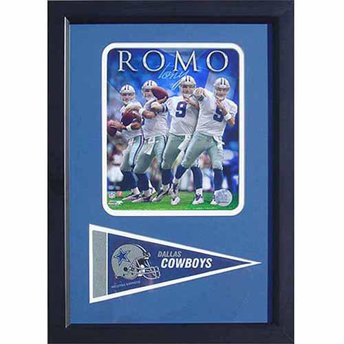 Nfl Tony Romo Dallas Cowboys 12x18 Pennant Frame Walmart Com