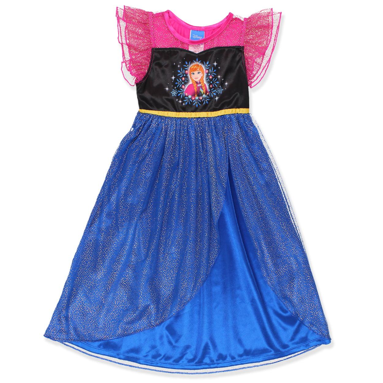 Disney Frozen Princess Anna Girls Fantasy Gown Nightgown 21FZ733GGS