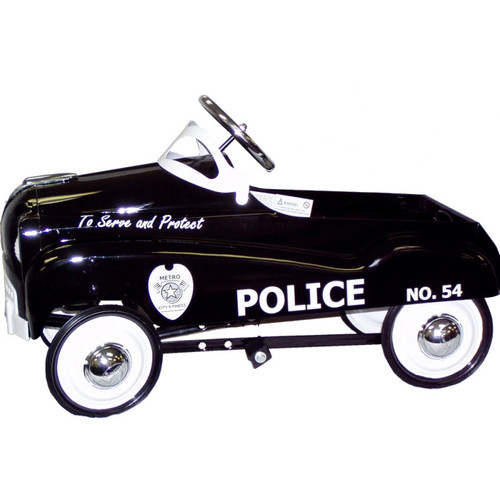 InStep steel Police Retro Pedal Car Ride-on Toy, Black