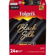 Folgers Black Silk K-Cup Coffee Pods, Dark Roast, 24 Count For Keurig and K-Cup Compatible Brewers