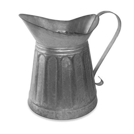 Benzara Vintage Style Galvanized Metal Milk Pitcher, (Small Milk Pitcher)