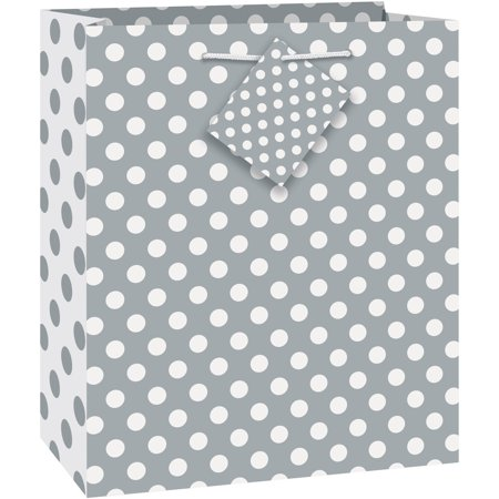 Silver Polka Dot Gift Bag, 9