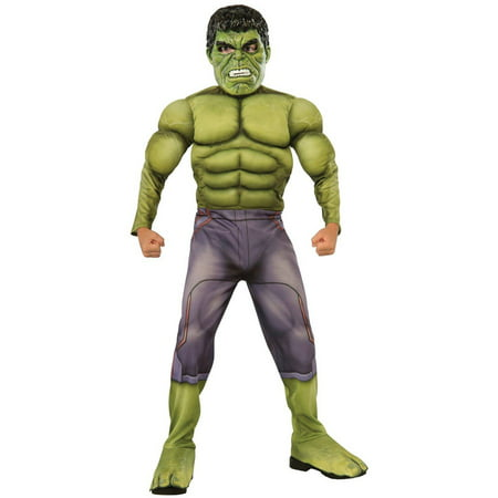 Avengers 2 Age of Ultron Deluxe Hulk Child Halloween Costume - Origins Of Halloween For Children
