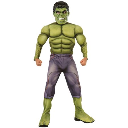 Avengers 2 Age of Ultron Deluxe Hulk Child Halloween Costume - History Of Costumes
