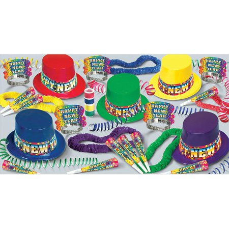 Rainbow Blast New Year's Party Kit (For 25 People) - New ...