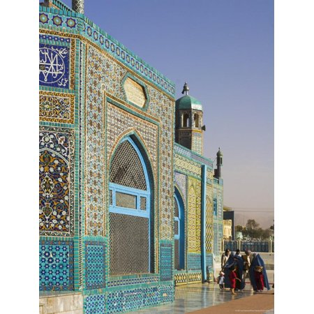 Pilgrims at the Shrine of Hazrat Ali, Who was Assassinated in 661, Mazar-I-Sharif, Afghanistan Print Wall Art By Jane