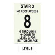 INTERSIGN NFPA-PVC1812(3GN8) NFPASgn,RoofAccssN,Floors Srvd 1 to 8 G0264400