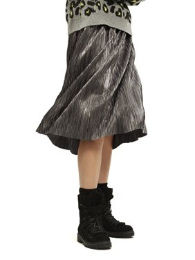 Scoop Women's Pleated Metallic Skirt