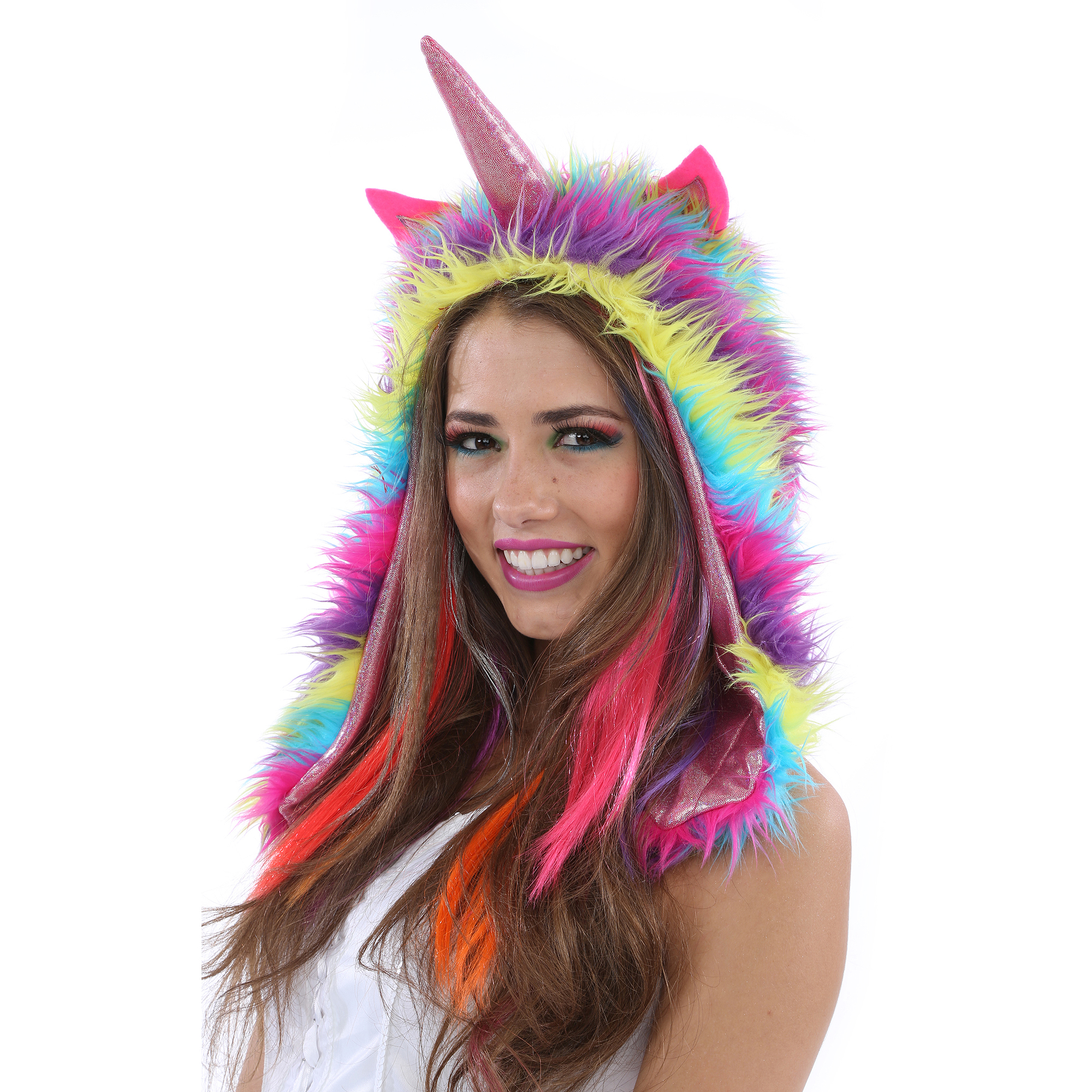 Unicorn Hoodie Adult Halloween Costume  sc 1 st  Walmart : adult unicorn halloween costume  - Germanpascual.Com