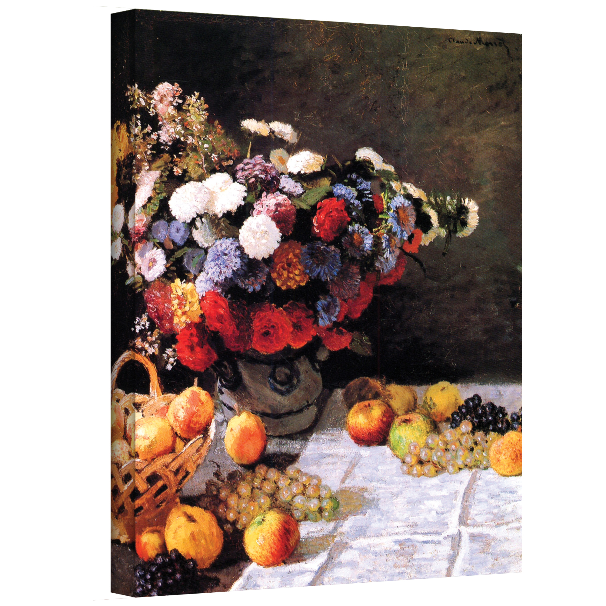 Flowers and Fruit' Gallery wrapped Canvas Art Print