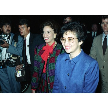 Philippine President Corazon C Aquino 1933-2009 Arriving At Andrews Air Force Base Seven Months After She Led Protests That Ousted Ferdinand E Marcos Sept 15 1986