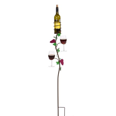 - Picnic Plus Grapevine Double Glass/Bottle Holder Ground Stake