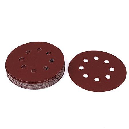 Brown Wheel - 5-inch Dia 600 Grit 8 Holes Sanding Disc Wheel Sandpaper Brown 20pcs