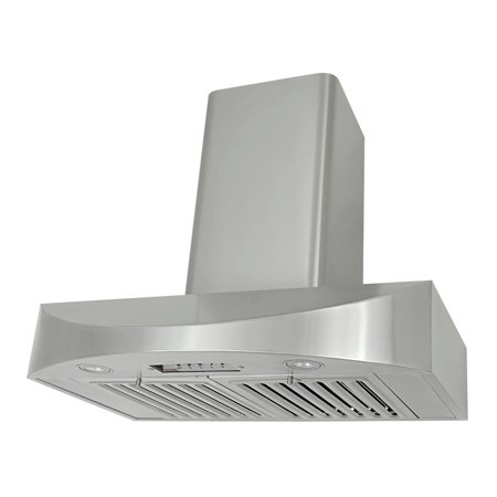 KOBE CHX3836SQB-WM-2 Brillia 36-inch Wall Mount Range Hood, 3-Speed, 650 CFM, Fits Ceiling Height
