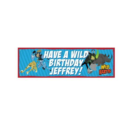 Personalized Wild Kratts Birthday Banner