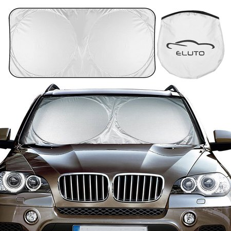 150*70cm & 160*86cm Front Auto Car Windshield Sunshades 210T Nylon Silver Coated Sun Shade Folding Silvering Sun (Auto Windshield Visor)