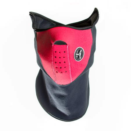 Neoprene Face and Neck Mask - Red