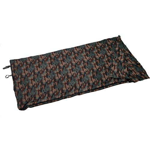 Texsport Woodland Camouflage Fleece Sleeping Bag/Liner