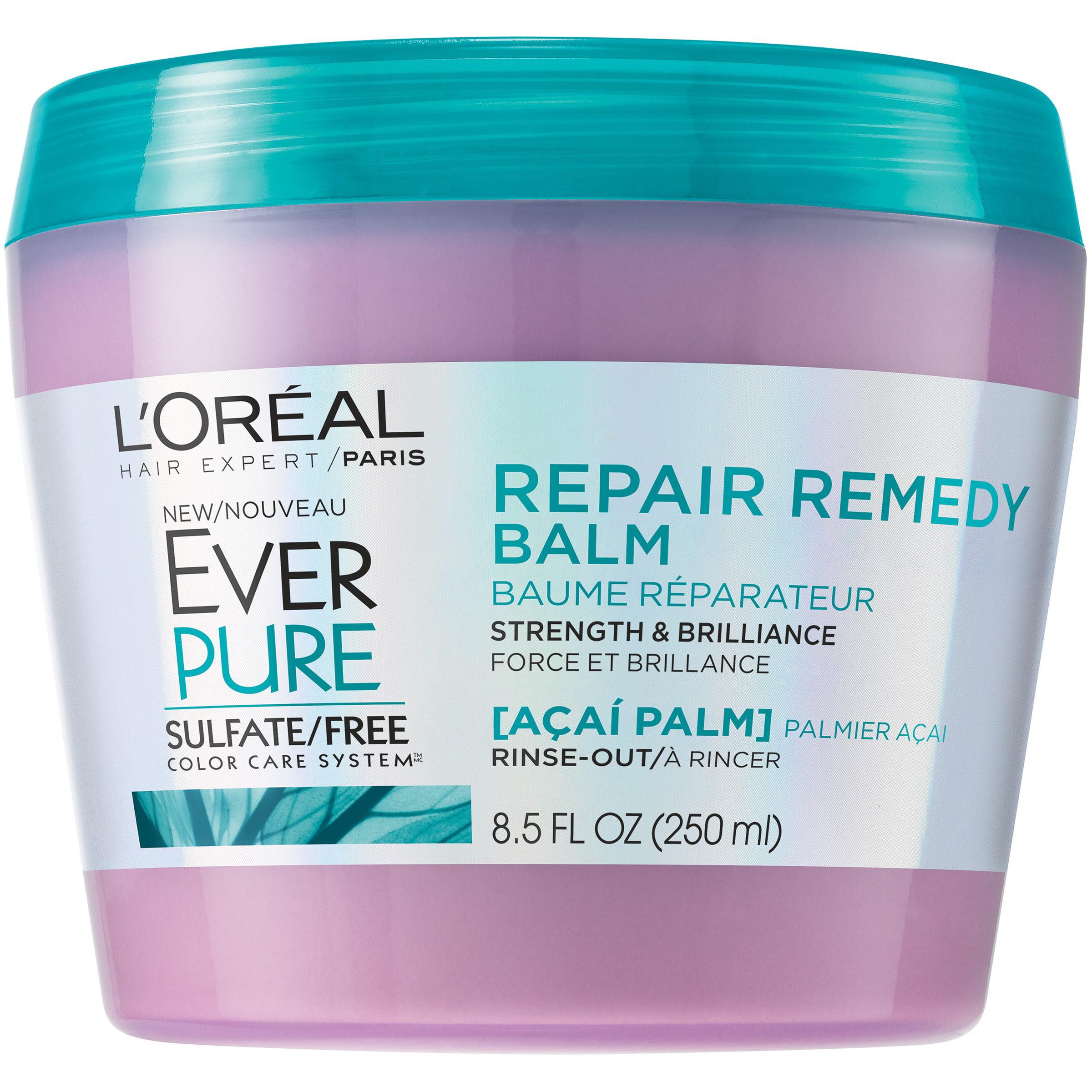 L'Oreal Paris EverPure Repair Remedy Balm, Acai Palm, 8.5 Fl Oz