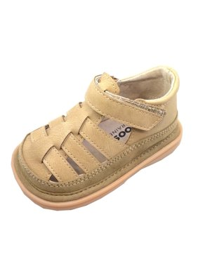 Mooshu Trainers Boys Tan Fisherman Lined Squeaky Sandals