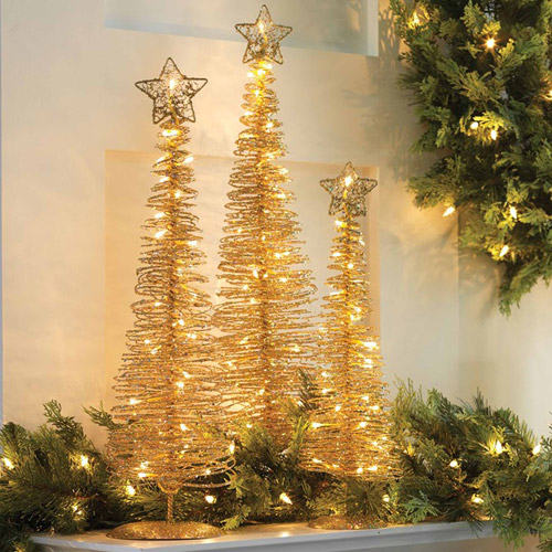 Spiral Lighted Christmas Tree