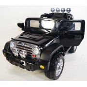 upgraded jeep wrangler style 12v ride on car for kids with remote control black