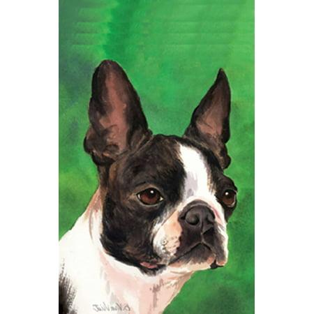 Boston Terrier - Barbara Van Vliet Portrait Garden Flag