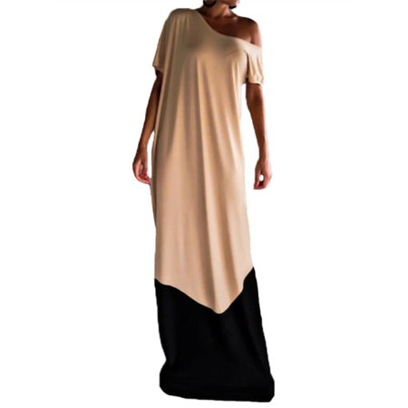6e7408ca4399 ZANZEA - Women Drop Off Shoulder Maxi Kaftan Robe Splice Dress - Walmart.com
