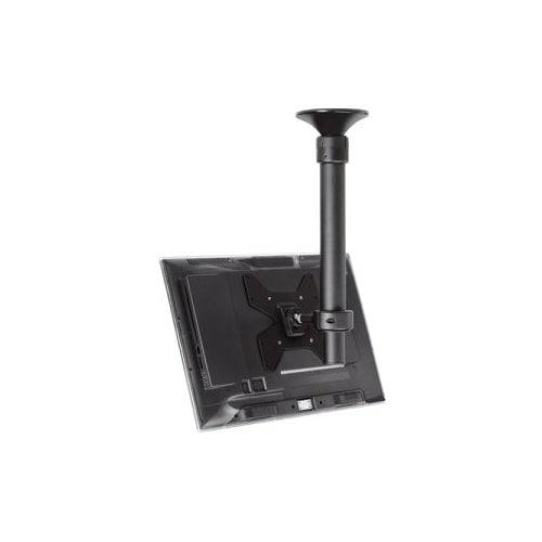 Telehook TH-1040-CTS Ceiling Telescopic Short Pole Mount - 55 lb - Steel, Polymer Plastic - Black - Atdec