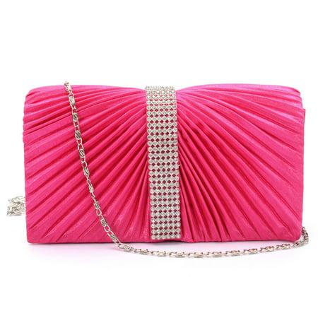Women Satin Cluth Purse Ladies Evening Wedding Handbag Shoulder Bag Party Prom (Wedding Handbags)