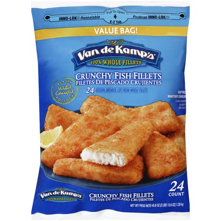 Van de kamp 39 s crunchy fish fillets 45 6 oz bag for Van de kamp s fish sticks