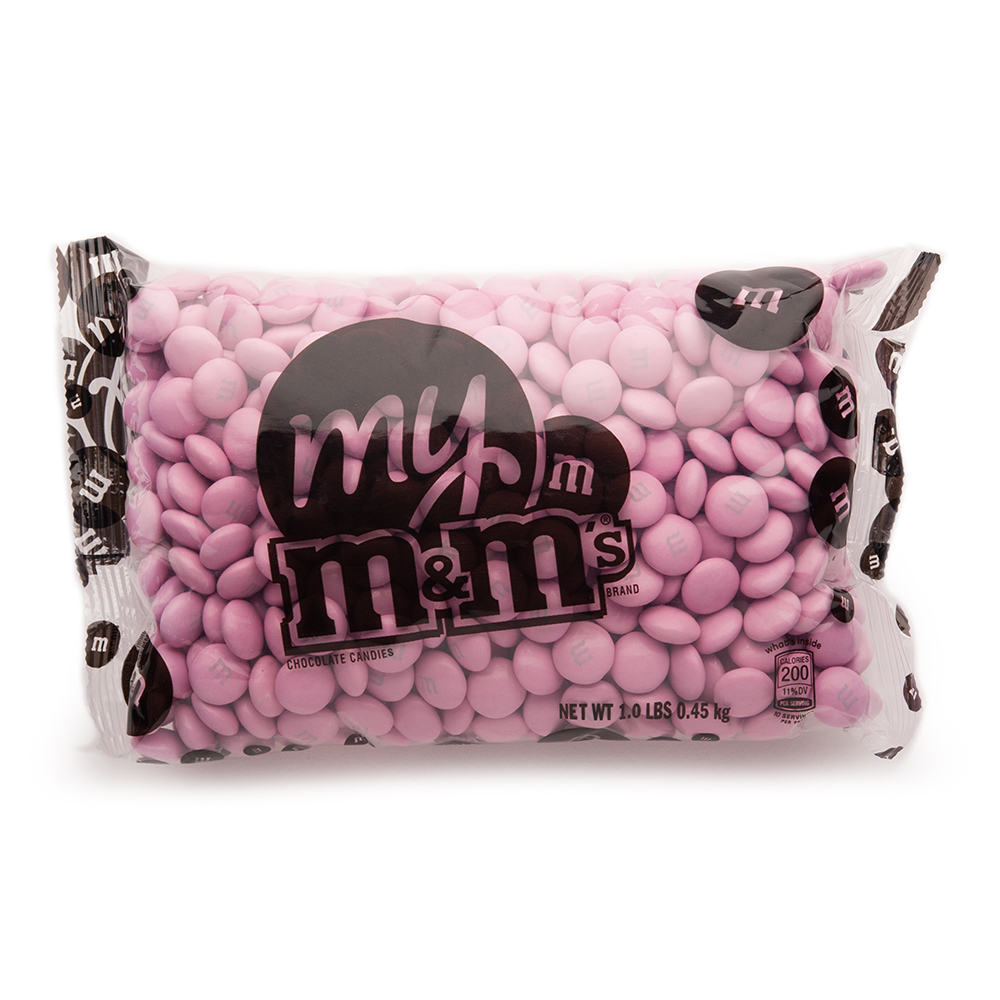 Pink M&M'S® Bulk Candy Bag (1lb)