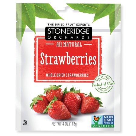 Stoneridge Orchards  Strawberries  Whole Dried Strawberries  4 Oz  Pack Of 4