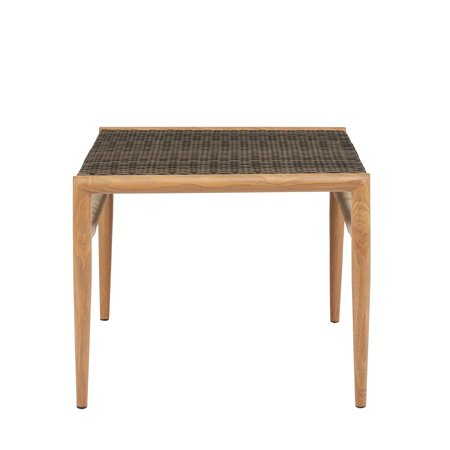 Madison Park  Harlem Grey Outdoor Resin Wicker Accent Table - 24