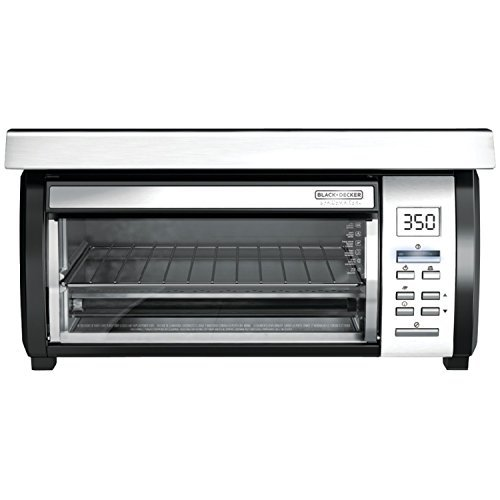 BLACK+DECKER TROS1000D Space Maker Digital Toaster Oven, Stainless Steel/Black