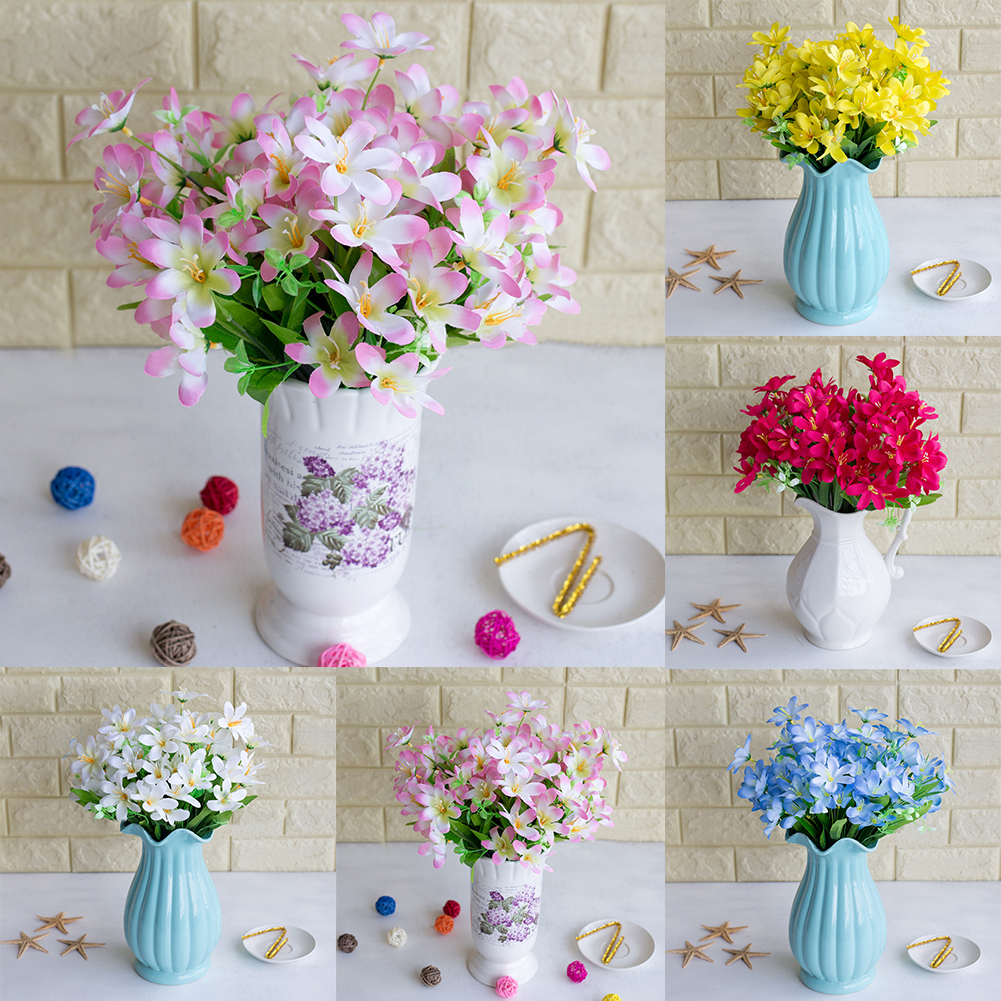 HiCoup 6 Branches/1Pc Artificial Flower Narcissus Simulation Office Home Decoration
