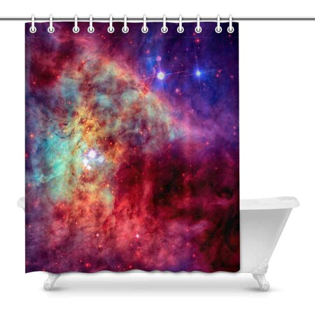 POP Galaxy in Outer Space Bathroom Shower Curtain 60x72 inch - image 1 of 1