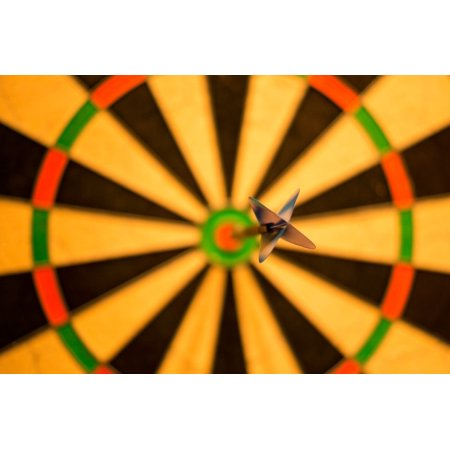 Peel-n-Stick Poster of Bulls Eye Success Game Bull Win Darts Score Poster  24x16 Adhesive Sticker Poster Print