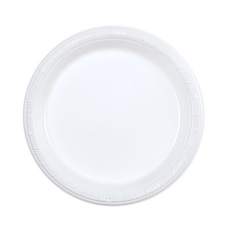 "Hanna K Signature 7"" White Plastic Plate, 100ct"