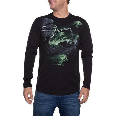 Faded Glory Big Men's Long Sleeve Riding Reaper Graphic Thermal, 2XL