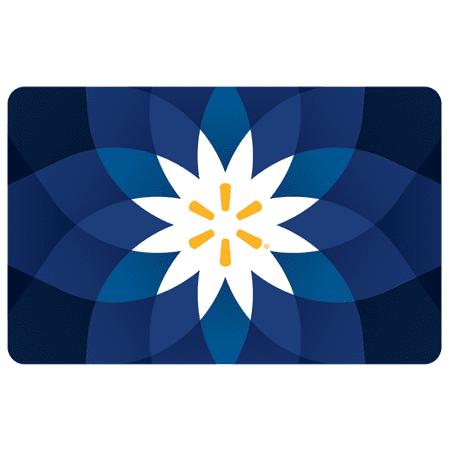 Basic Blue Flower Walmart eGift Card