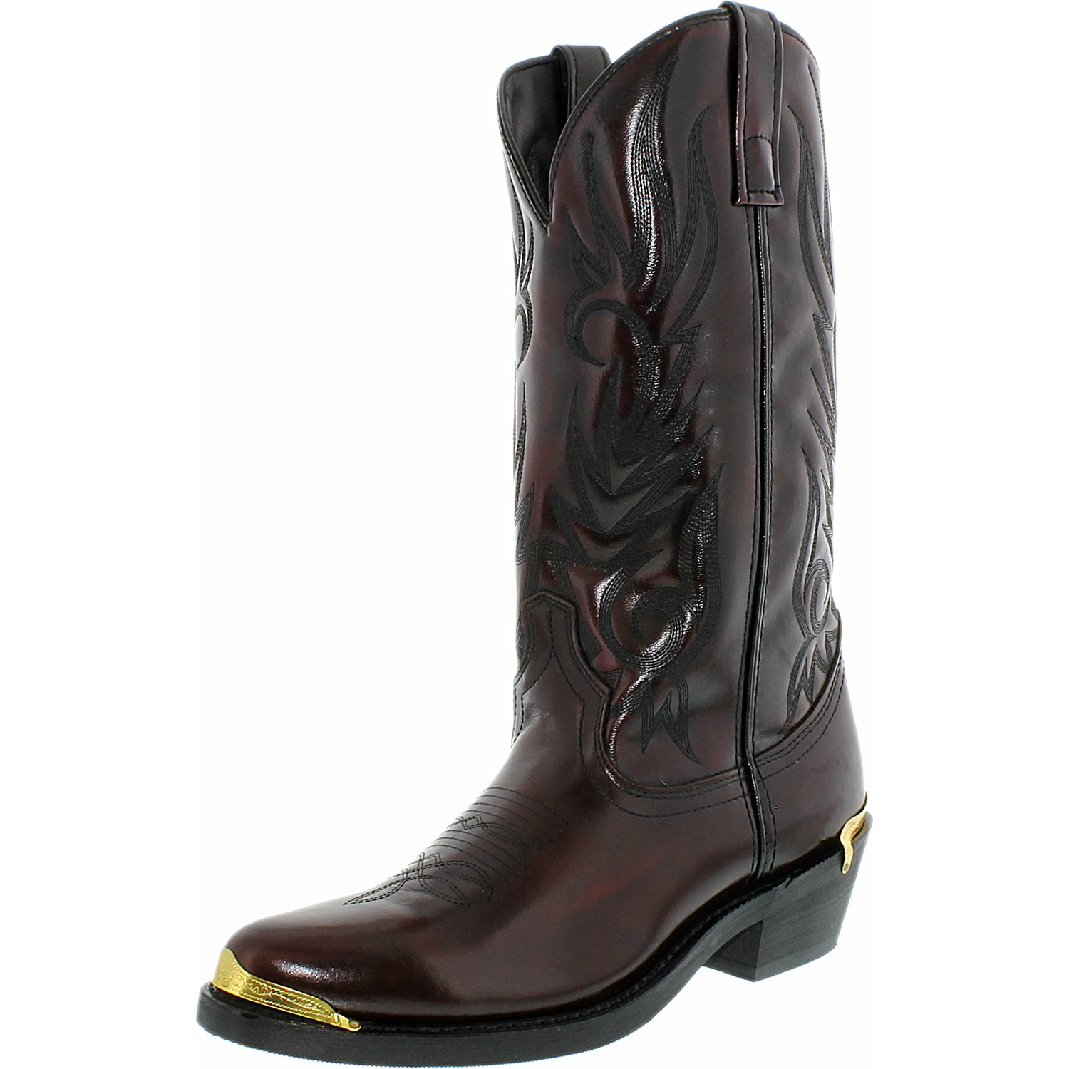 Laredo Men's Mccomb Leather Synthetic Black Cherry Mid-Calf Leather Boot 9D by Laredo