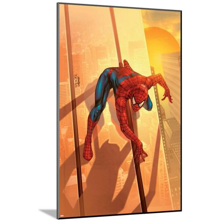 Spider-Man Unlimited No.12 Cover: Spider-Man Wood Mounted Poster Wall Art By Salvador Larroca ()