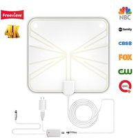 2019 Newest Amplified 50+Miles TV Antenna - Indoor HDTV Antenna with Amplifier TV Channels Digital for TV VHF/UHF 4K 1080p Signals Free Gain 13ft Cable